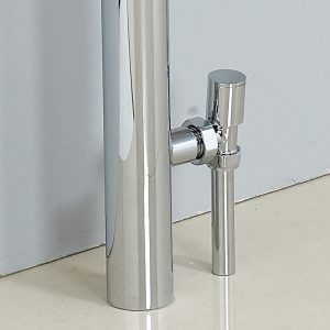 15mm Pair Modern Angled Radiator Valves In Chrome
