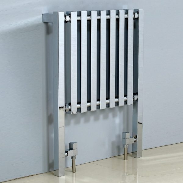 Cube Square Floor Mounted Heated Towel Warmer 600x800mm