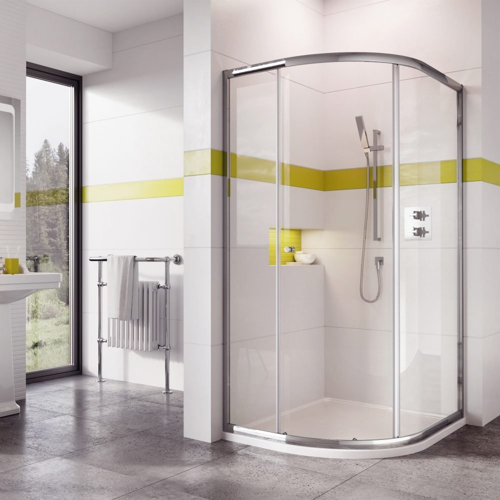 ROMAN SHOWERS Curved Quadrant 1200x900