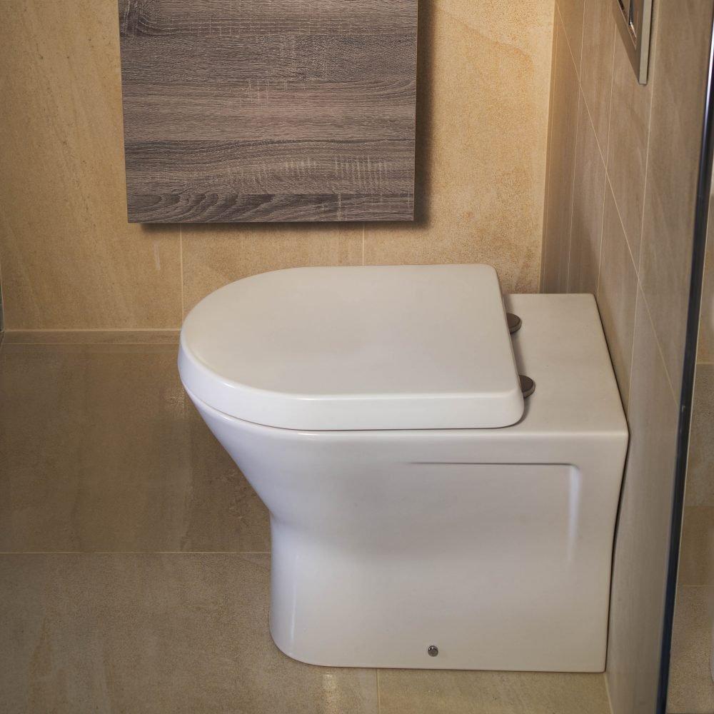 Resolve Rimless Mini Back To Wall Toilet & Seat