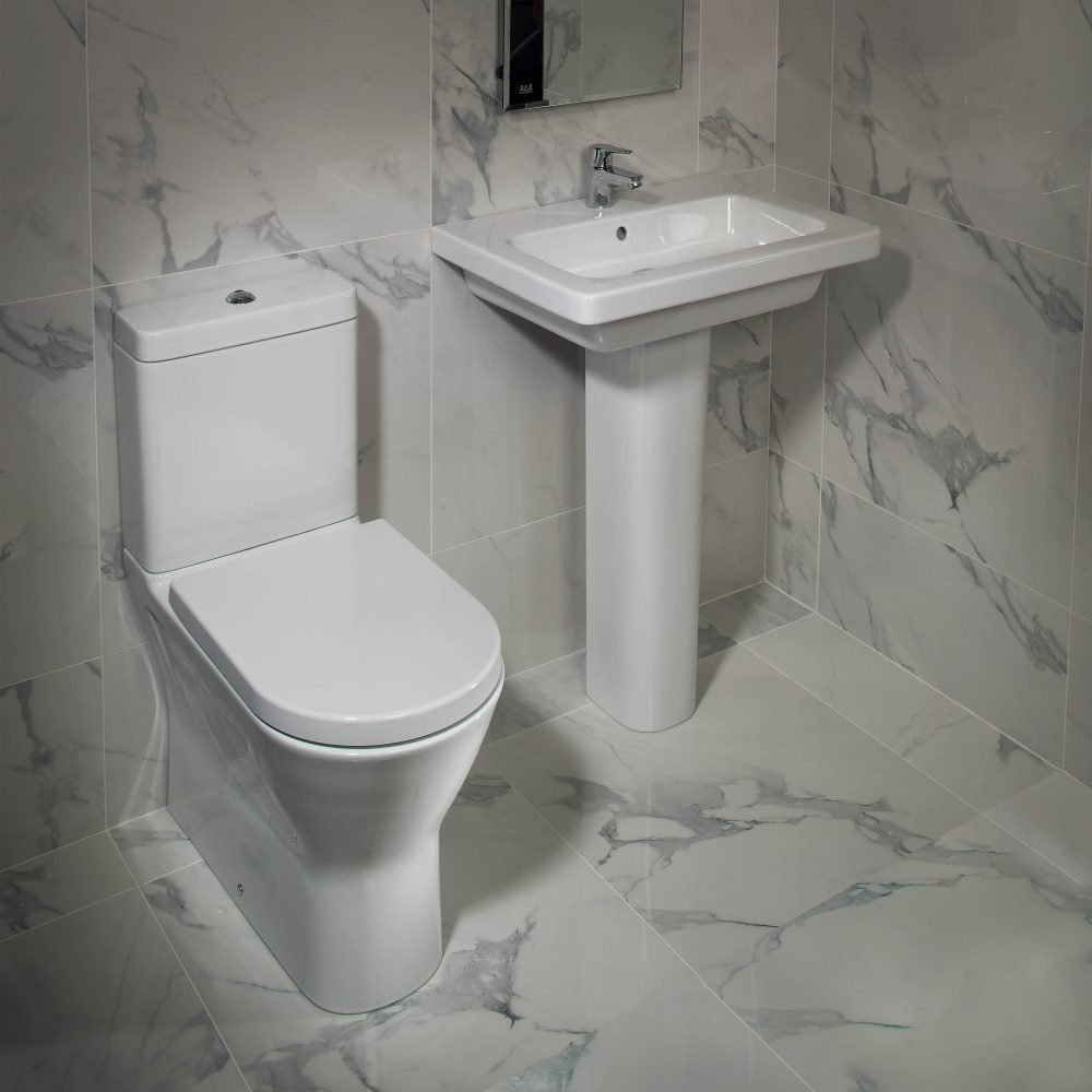 Resolve Maxi Rimless Fully Back To Wall Toilet & Soft Close Seat ...