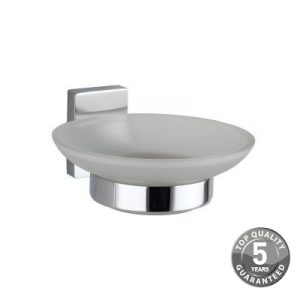 Resolve Glass Soap Dish & Holder In Chrome