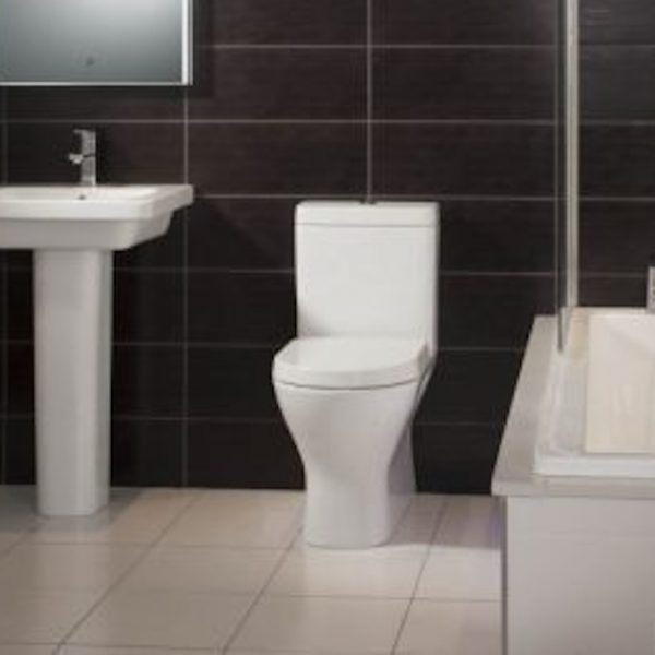 Resolve Mini Rimless Fully Back To Wall Toilet & Soft Close Seat