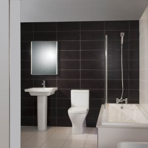 Resolve Rimless Fully Back To Wall Mini Toilet & Seat
