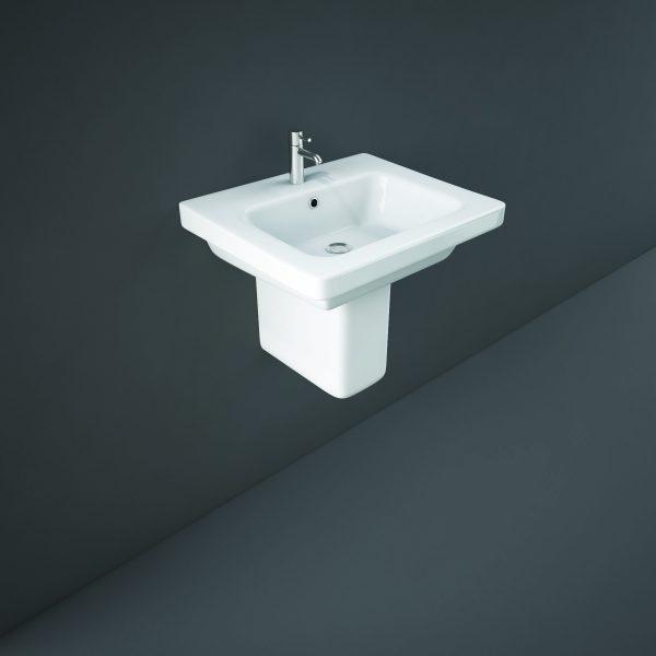 Resolve Basin & Semi Pedestal 1 Tap Hole 500mm