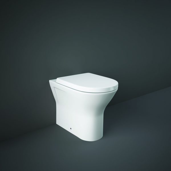Resolve Rimless Comfort Height Maxi Back To Wall Toilet & S/C Seat