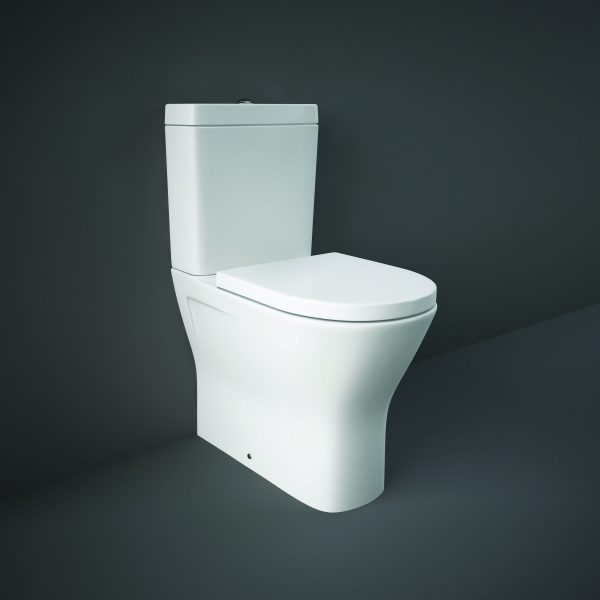 Resolve Maxi Rimless Fully Back To Wall Toilet & Soft Close Seat