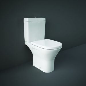 Resolve Maxi Rimless Close Coupled Toilet & Soft Close Seat