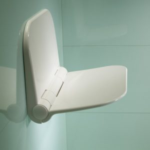 Standard Folding Wall Mounted Shower Care Seat In White