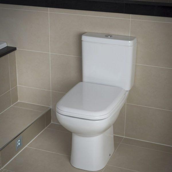 Orlando Budget Square Toilet Close Coupled & Soft Close Seat