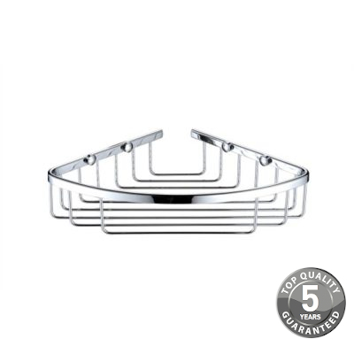 Simply Corner Wall Fixed Wire Basket In Chrome