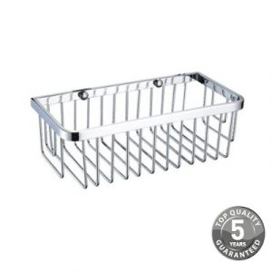 Simply Small Wall Fixed Wire Basket In Chrome