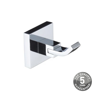 Simply Square Robe Hook In Chrome