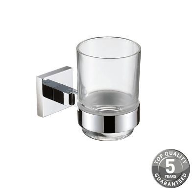 Simply Square Tumbler & Holder in Chrome