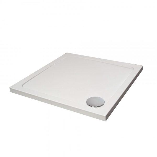Slimline Square Tray In White Various Sizes (5)