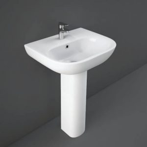 Toone Basin & Full Pedestal 1 Tap hole 550mm