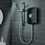 Triton Amore Electric Shower In Black 8.5 & 9.5 kw Lifestyle