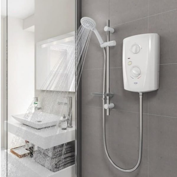 Triton T80z Pro Fit Electric Shower In White 8.5 & 9.5 kw