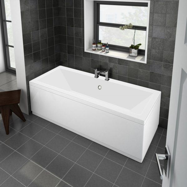 Trojan Solarna Bath Double Ended 5mm 1800x800mm In White