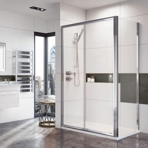 IN6 V2 Slider Door 6mm In Chrome 1000, 1100, 1200, 1400, 1700mm