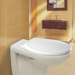 Carrara & Matta York Sta-Tite Soft Close Plastic White Seat