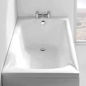 Carron Delta Bath Single Ended Twin Gripped 5mm 1500, 1600, 1650, 1675x700mm In White