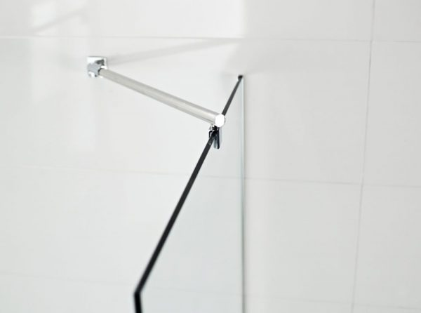 IN10 Wetroom Round Bracing Arm Options 8mm or 10mm In Chrome