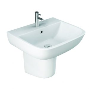 Serena Basin & Semi Pedestal 1 or 2 Tap Hole 520mm