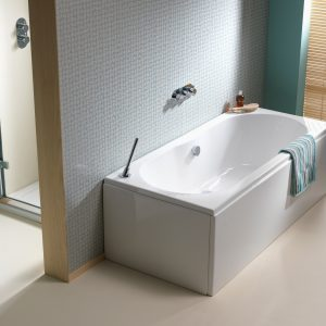 Pura Wave Bath Double Ended Puracast 1700x750mm In White