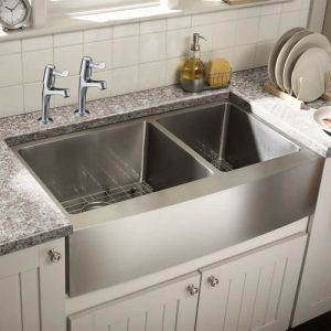 Bristan Club Capri Kitchen Sink Lever Taps In Chrome