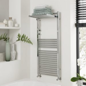 Utah Folding Towel Rail In Chrome 500x1200 & 600x1200mm
