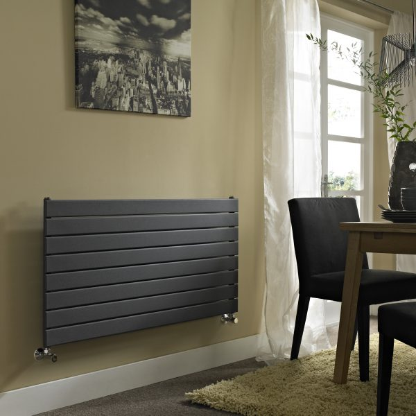 ESP Single Panel Horizontal Slim Anthracite Radiators 604mm High