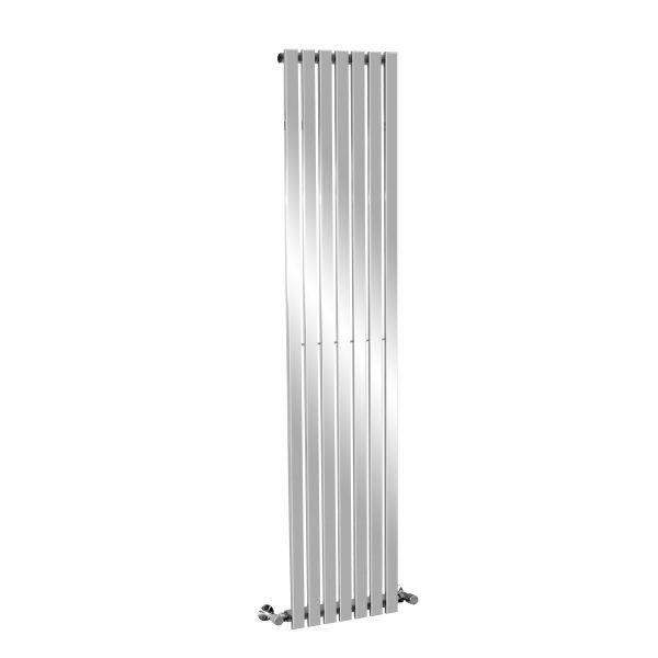 DR Vertical Flat Tubular Design Heated Radiator In Chrome