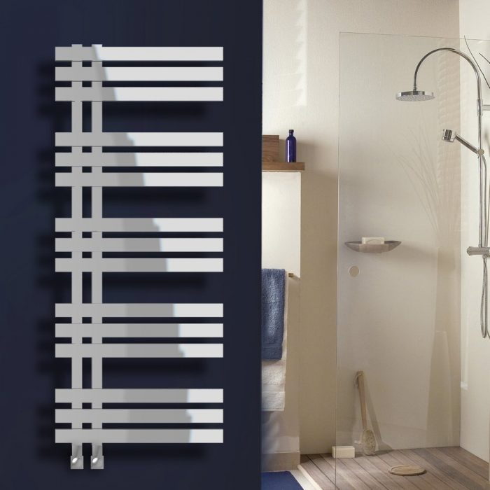 Diane Designer Straight Chrome Towel Rail 600 x 1400mm
