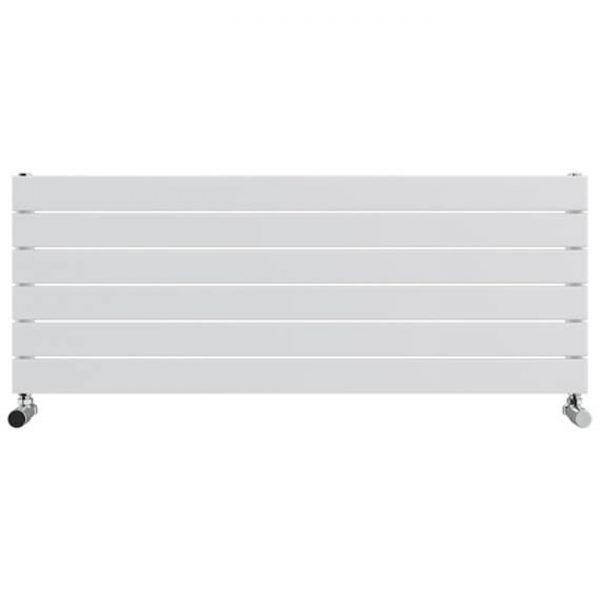 ESP Single Panel Horizontal Slimline Radiators 450 High in White Gloss