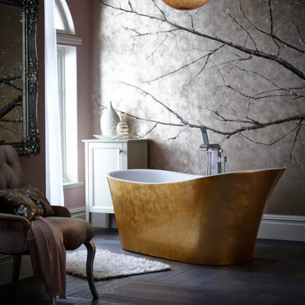 Heritage Holywell Bath 1710x745mm In Copper, Steel Or Gold Effect