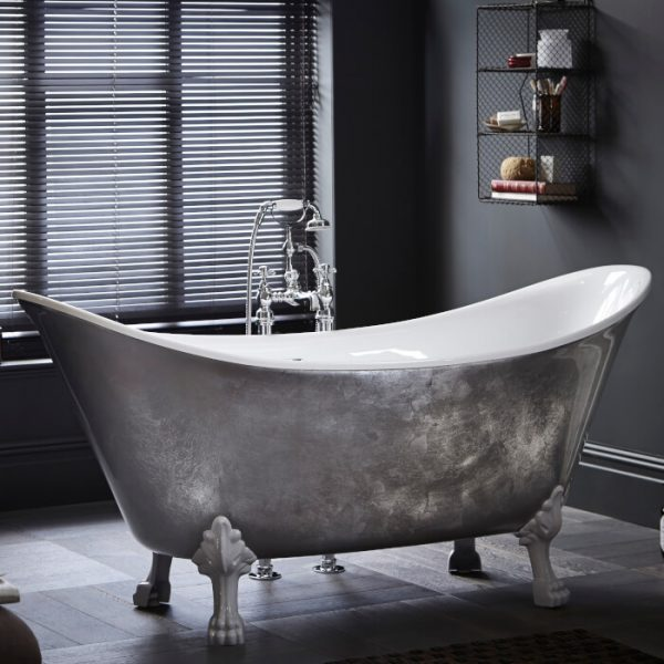 Heritage Lyddington Bath 1730x750mm In Copper, Steel Or Gold Effect