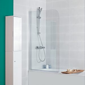 IN5 V2 Curved Mayfair Bath Screen In Chrome