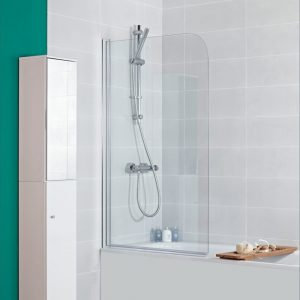 Mayfair Bath Screen In Chrome