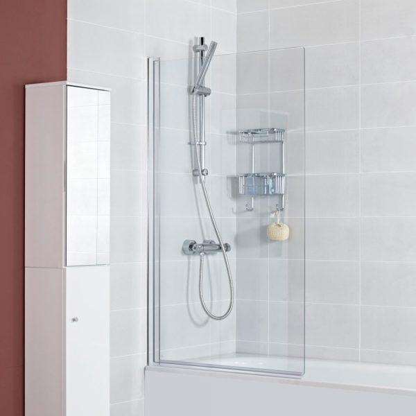K2 Square Bath Screen In Chrome