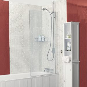 IN6 V2 Power Shower Square Bath Screen In Chrome