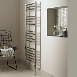 MD Stainless stainless steel 600 Wide Towel Rail Curved In Chrome