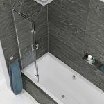 Kudos 2 Panel In Swing Bath Screen In Chrome Closed Left Hand