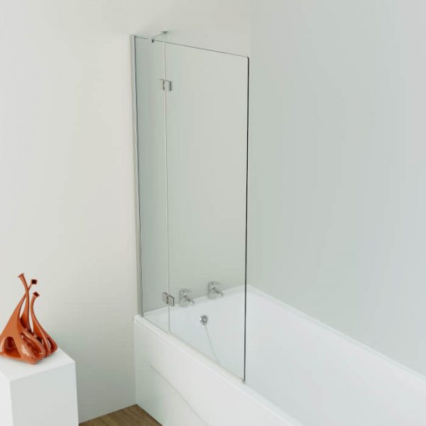 Kudos 2 Panel Out Swing Bath Screen In Chrome