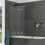 Kudos 4 Folding Bath Screen In Chrome Left hand
