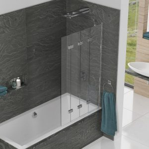 Kudos 4 Folding Bath Screen In Chrome