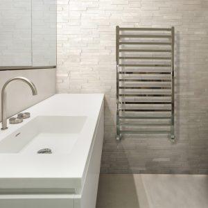 MD Square Straight Chrome Towel Rail-