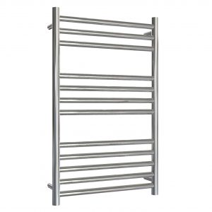 MD Stainless Steel Towel Rail Straight 500 Wide In Chrome Multiple Heights