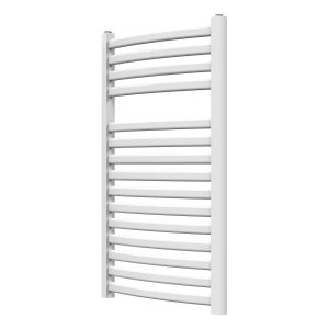 MD Designer Oval Curved Towel Rail 500 Wide White Multiple Sizes