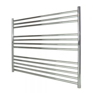 Mia Stainless Steel Towel Rail Chrome Curved - Available in Multiple sizes